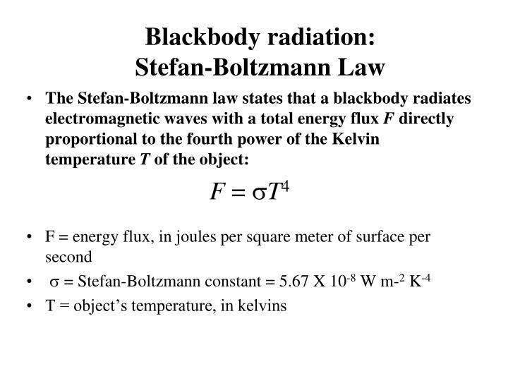 Blackbody radiation: