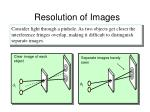 resolution of images
