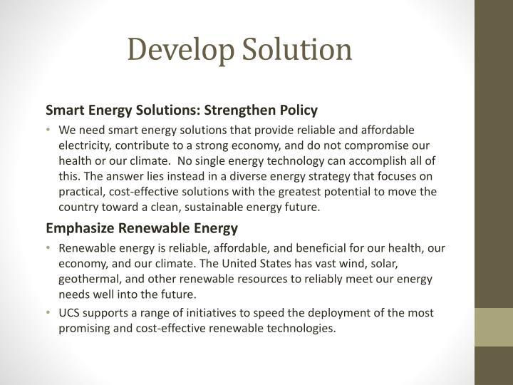 Develop Solution
