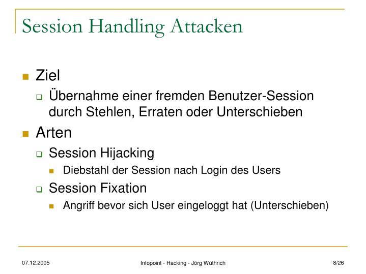 Session Handling Attacken
