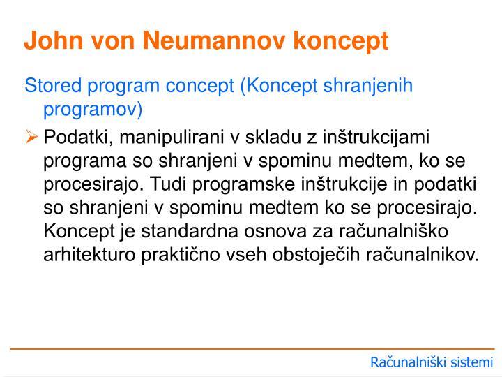 Stored program concept (Koncept shranjenih programov)
