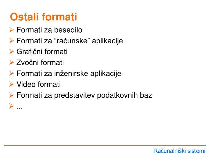 Formati za besedilo