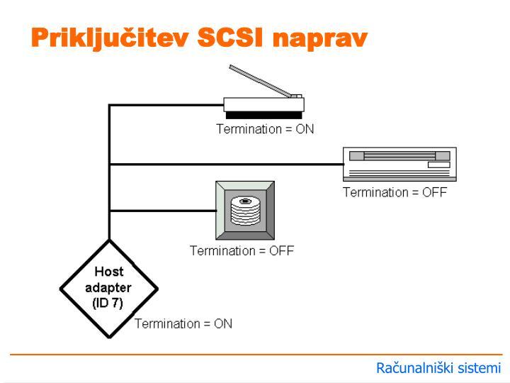 Priključitev SCSI naprav
