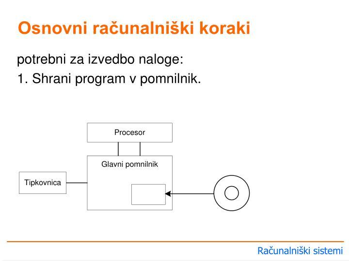 Osnovni računalniški koraki