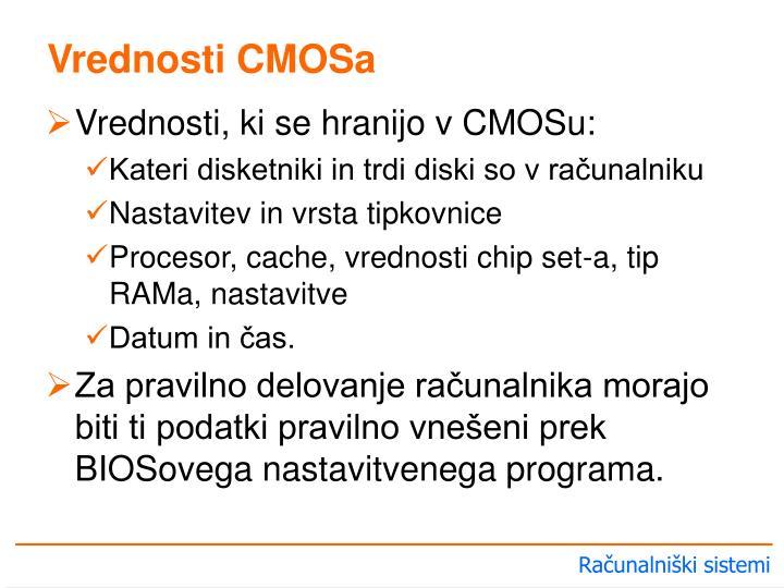 Vrednosti CMOSa
