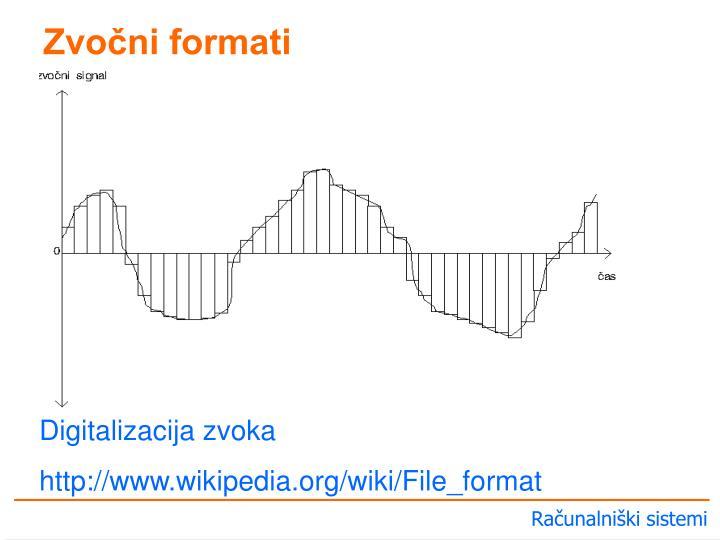 Zvočni formati