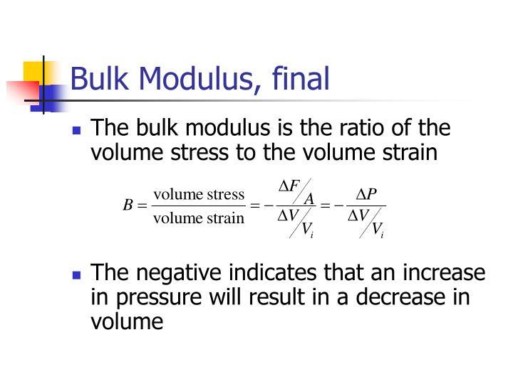 Bulk Modulus, final