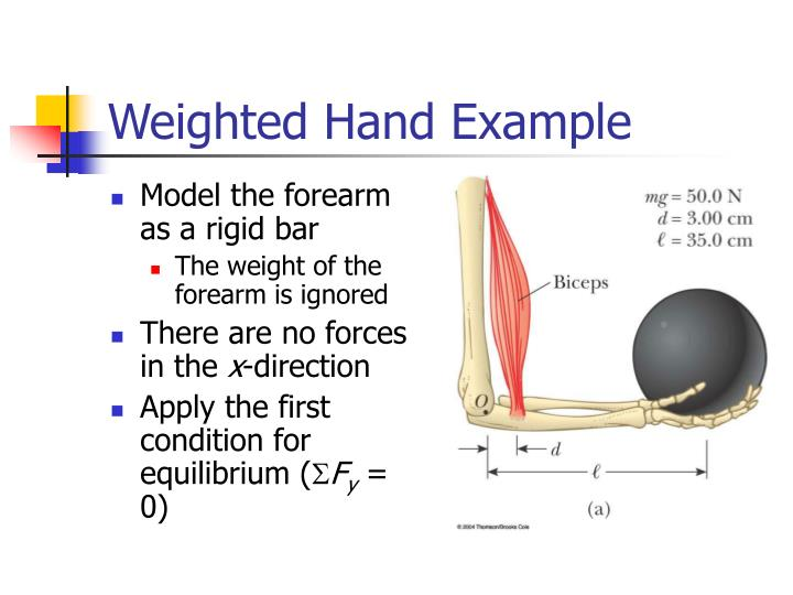 Weighted Hand Example