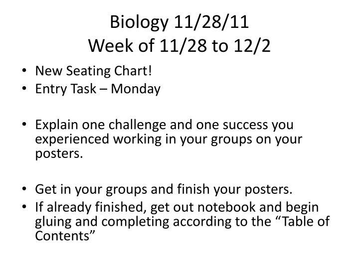 Biology 11/28/11