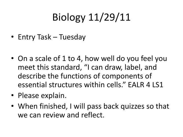 Biology 11/29/11