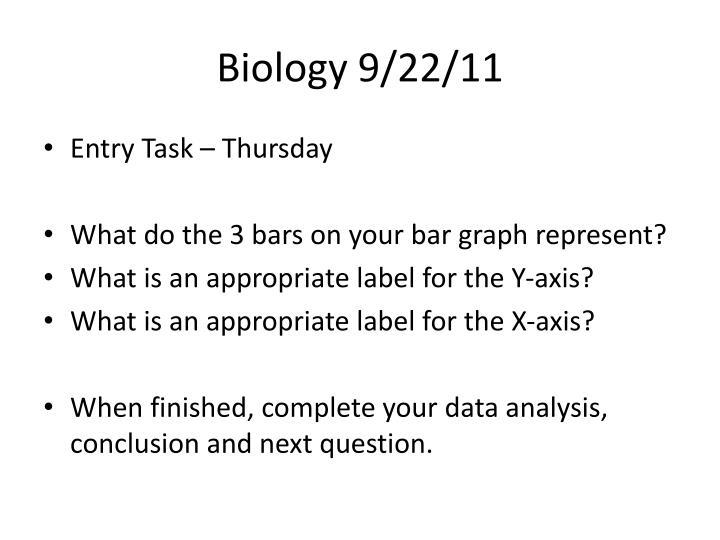 Biology 9/22/11
