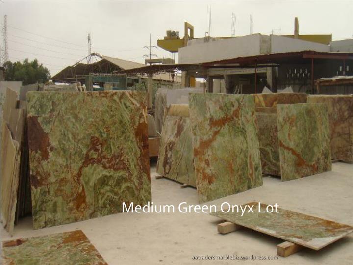 Medium Green Onyx Lot