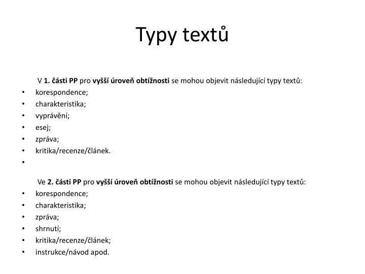 Typy textů