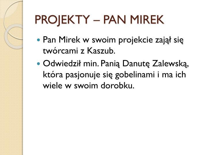 PROJEKTY – PAN MIREK