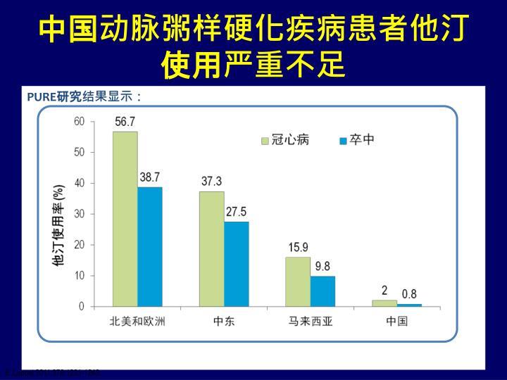 中国动脉粥样硬化疾病患者他汀使用严重不足