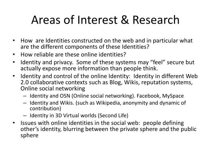 Areas of Interest & Research