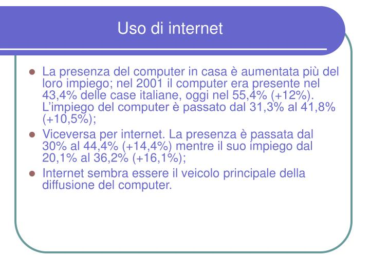 Uso di internet