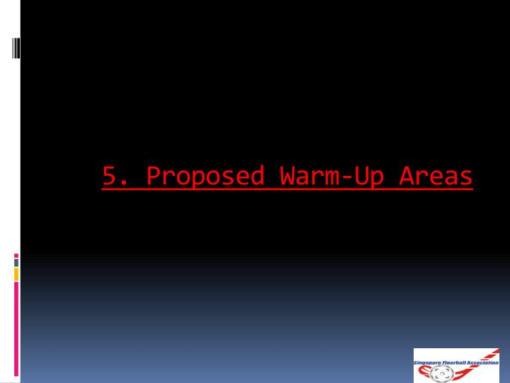 5. Proposed Warm-Up Areas