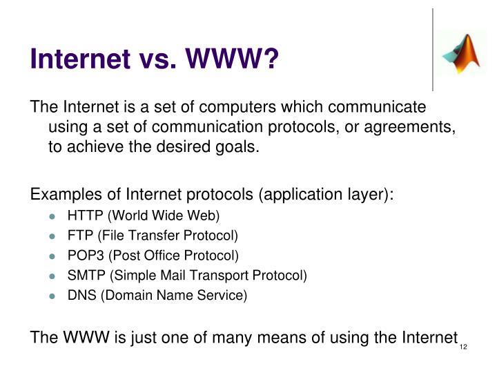 Internet vs. WWW?