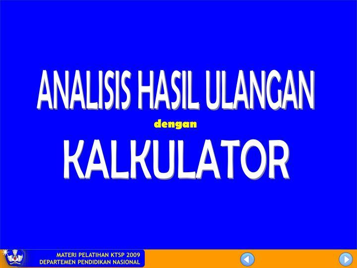 ANALISIS HASIL ULANGAN