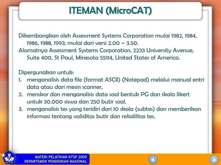 ITEMAN (MicroCAT)