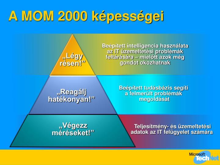 A MOM 2000 képességei