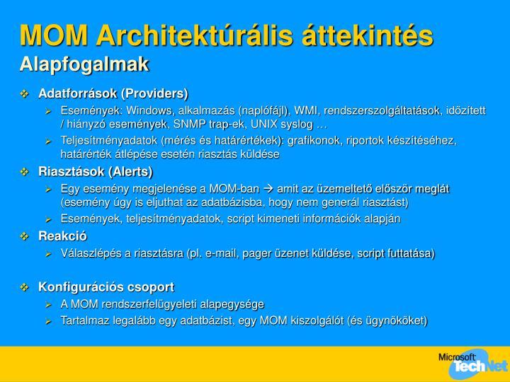 MOM Architektúrális áttekintés
