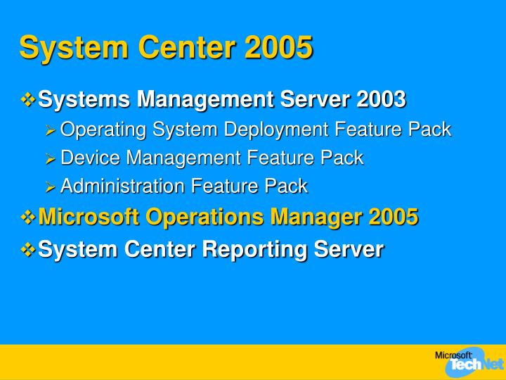System Center 2005