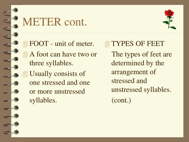 FOOT - unit of meter.