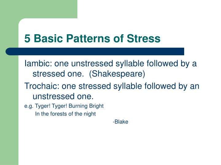 5 Basic Patterns of Stress