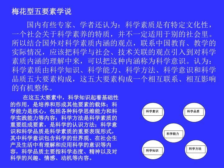 梅花型五要素学说