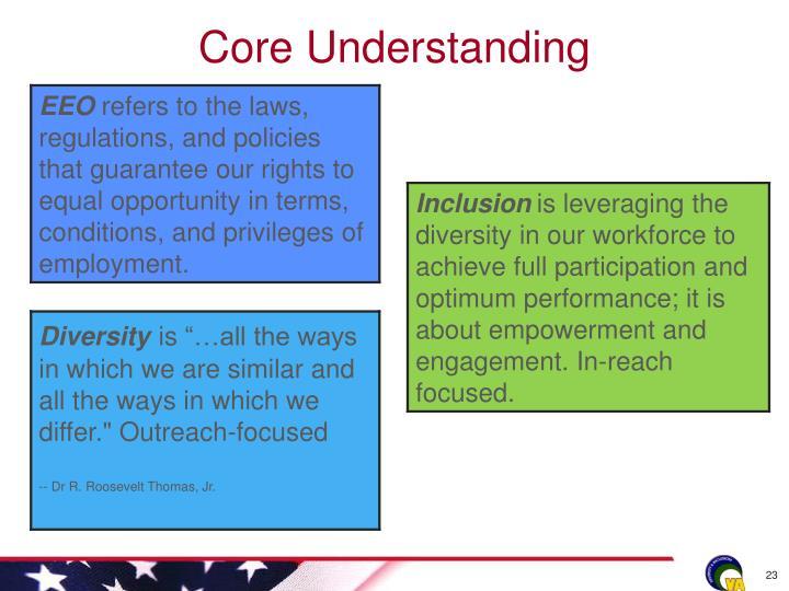 Core Understanding