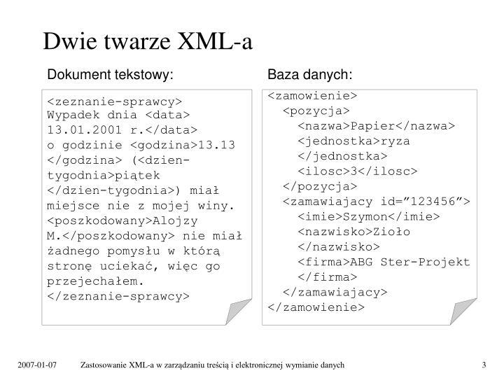 Dwie twarze XML-a
