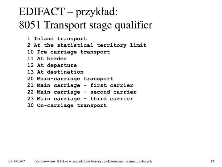 EDIFACT – przykład: