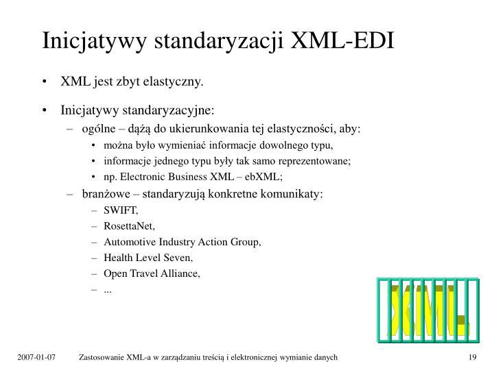 Inicjatywy standaryzacji XML-EDI