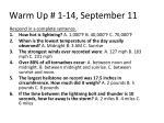 warm up 1 14 september 11