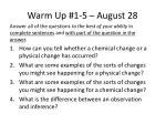 warm up 1 5 august 28