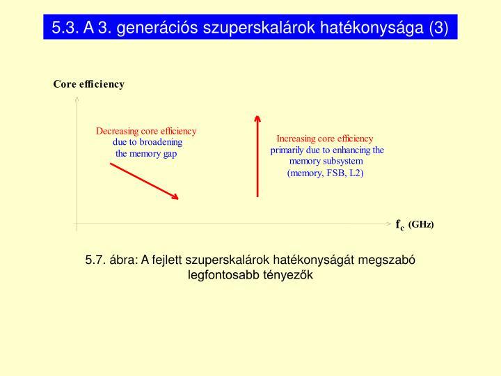 5.3. A 3. generációs szuperskalárok hatékonysága (3)