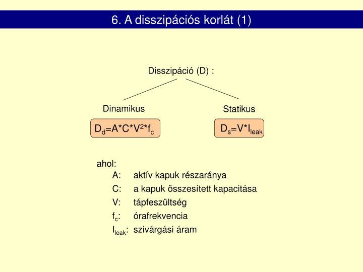 6. A disszipációs korlát (1)