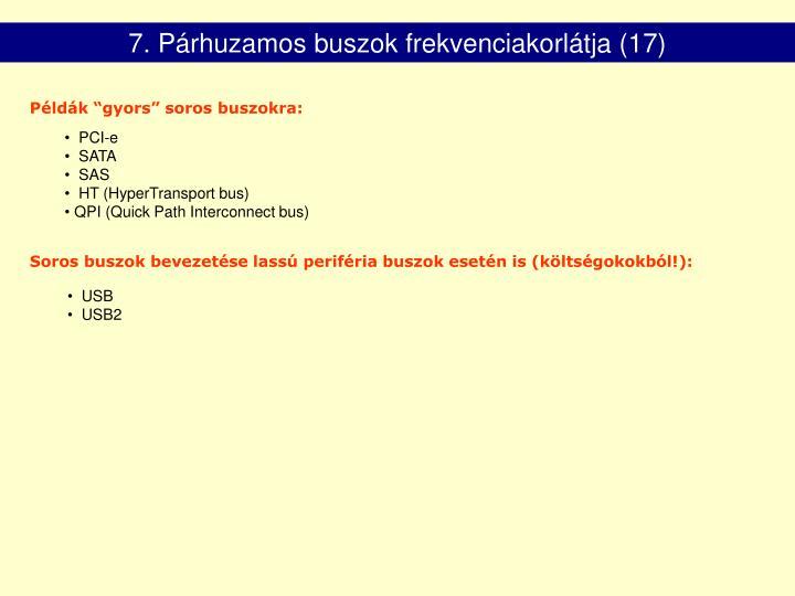 7. Párhuzamos buszok frekvenciakorlátja (