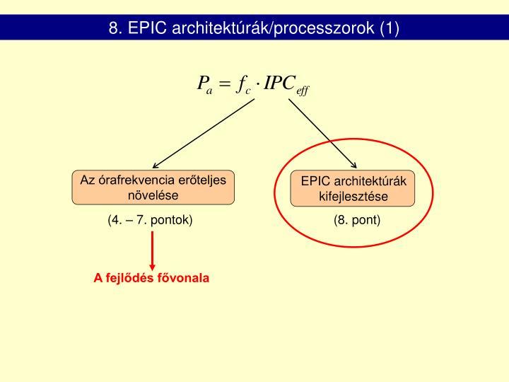8. EPIC architektúrák/processzorok (1)