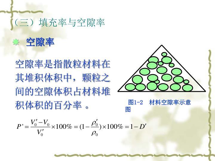 (三)填充率与空隙率