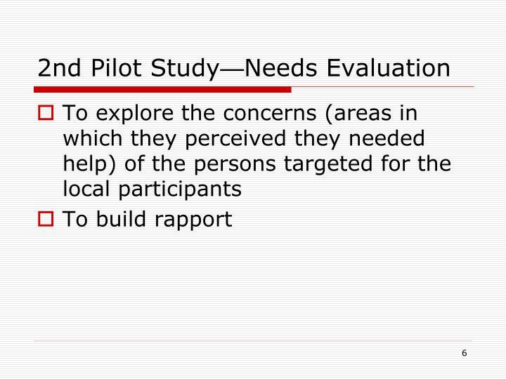 2nd Pilot Study