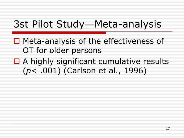3st Pilot Study