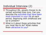 individual interview 2
