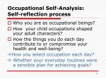 occupational self analysis self reflection process