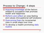 process to change 4 steps