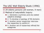the usc well elderly study 1996