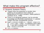 what make this program effective5