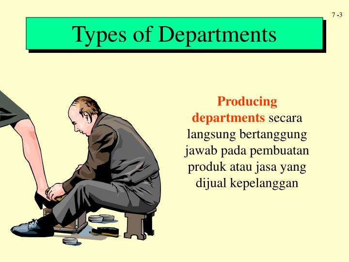 Types of Departments